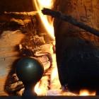 Tronco quemando