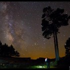 Cielo estrellano noche Peralejos de las Truchas
