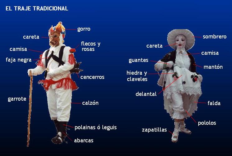 Trajes Mascaritas carnaval de Luzón