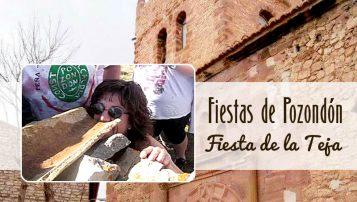 Beber vino en teja, Fiestas de Pozondón