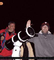 Astro Tajo. Javier y el grupo para ver las estrellas por la noche
