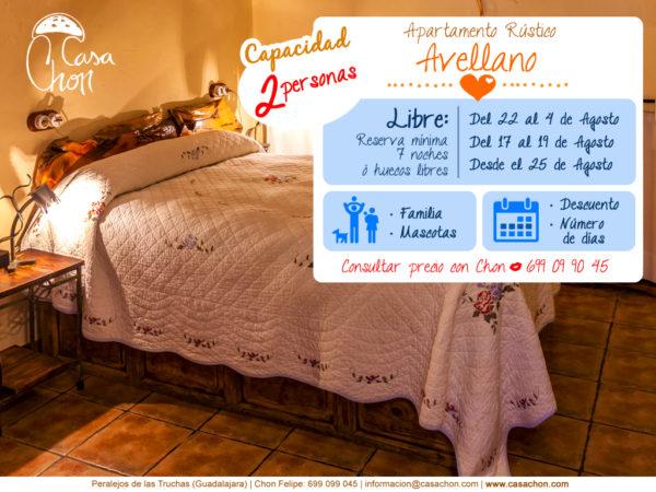 Ofertas 2018 alojamiento 2 personas. Peralejos de las Truchas