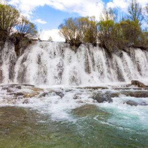 Cascada presa de Peralejos de las Truchas