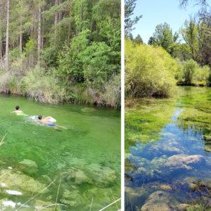 Zona del Camping La Serradora 2018. Zonas de Baño Peralejos de las Truchas