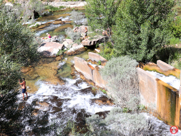 Presa de Peralejos de las Truchas 2018. Zonas de Baño