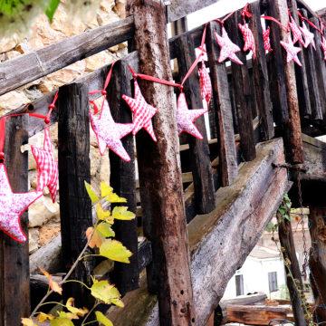 Casa Rural Alto Tajo Guadalajara. Escalera de madera