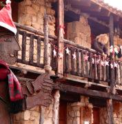 Casa Rural Alto Tajo Guadalajara. Decoración exterior Navideña