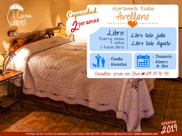 Oferta Casa Avellano para 2 personas verano Alto Tajo