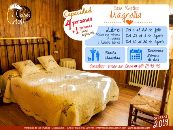 Oferta Casa Magnolia para 5 personas verano Alto Tajo